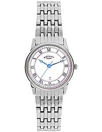 Reloj de acero inoxidable y esfera nacarada para mujer Rotary.