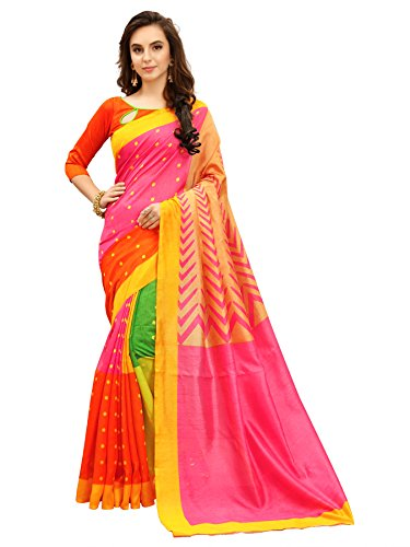 Glory Sarees Women\'s Silk Cotton Saree(zarna05_pink)