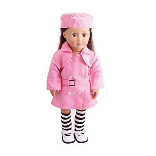 Puppenkleidung und Zubehör von Mingfa für eine 45,7cm große Puppe, 3-teiliges Uniform-Set mit Mützen und Socken