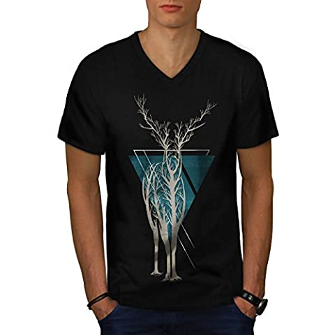 La nature Arbre Art Animal Homme M T-shirt à col