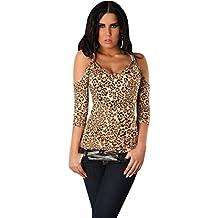 In Style Mujer Camiseta schulterfrei con cuello redondo Talla Única (32–38)