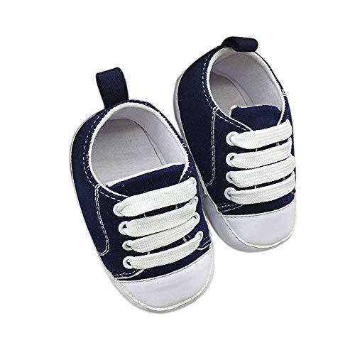 Chihop scarpe primi passi scarpine neonato scarpe bambino fila scarpe bambino scarpette antiscivolo morbide scarpe di tela solida