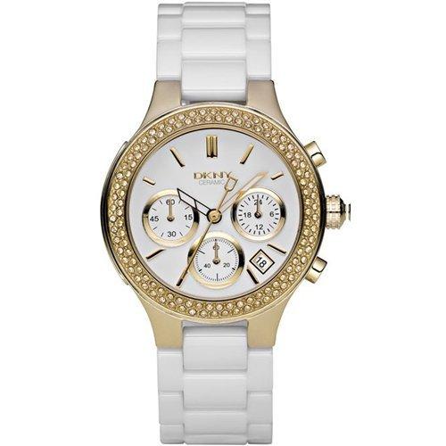 DKNY Women's NY4986 Ceramic Quartz Watch with White Dial