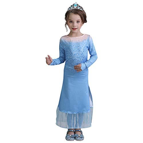 Likecrazy Kinder Mädchen Herbst Kleider Langarm Tüll Kleid 2 stücke für Mädchen Kleider Cosplay Prinzessin Kleid Kleinkind-Baby Kinder Lange Ärmel Partykleid Abendkleid Outfits -