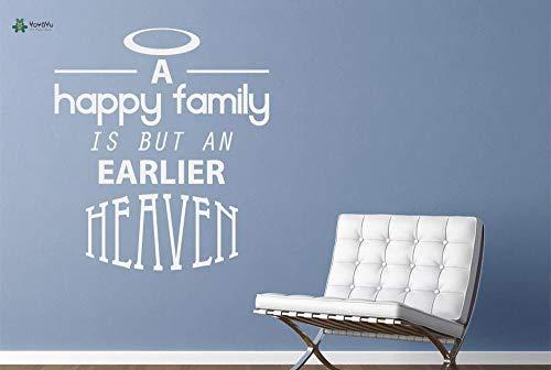 Una familia feliz con calcomanías de pared de vinilo es una cita previa de inspiración paradisíaca etiqueta de decoración de interiores 57X65cm