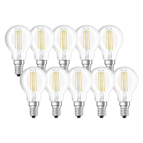 NEOLUX - Lot de 10 ampoule LED E14 - Forme Sphérique Filament - 4W Equivalent 40W - Blanc chaud 2700K