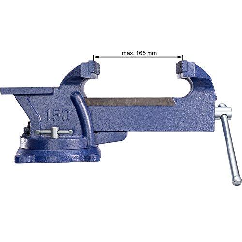 TecTake Schraubstock Amboss 360° drehbar mit Drehteller für Werkbank – diverse Größen – (Spannweite 165 mm | Nr. 401125) - 6