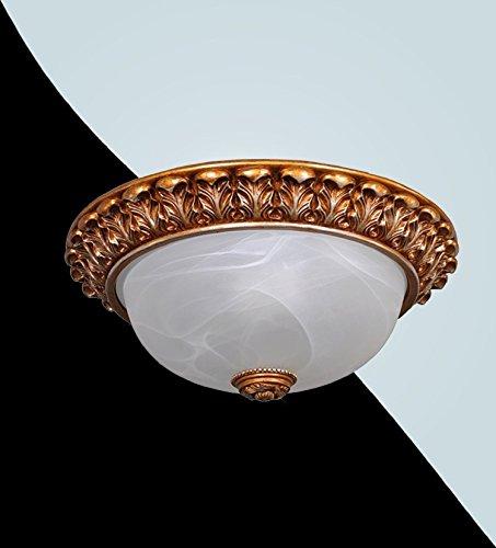 Deckenlampe 2x40W 34cm Alabaster Glas Weiss Gold Kaffee Silber Deckenleuchte Antik 1-57-003 - Silber Alabaster, Glas