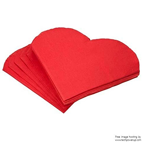60 Heart Shaped Napkins