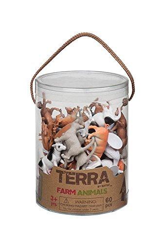 Battat Terra Farm Animals In Tube Action Figure Set by Battat (Farm Animal Tubes)