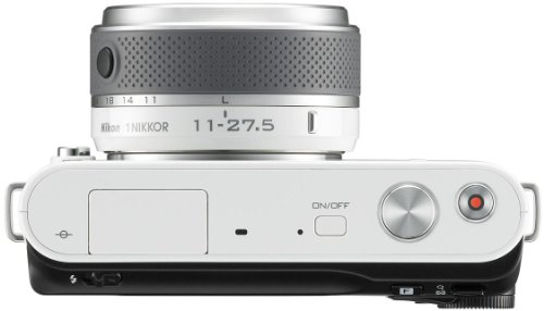 Nikon 1 J2 Systemkamera (10,1 Megapixel, 7,5 cm (3 Zoll) Display) Kit inkl. Nikkor 11-27,5 mm weiß - 6