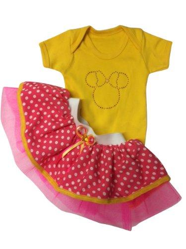 t Baby Minnie Mouse Baby Suit Tutu & Headband Newborn Reborn (4-5 years) ()