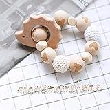 Mamimami Home Hölzernes Igel Teether Kauen Perlen Baby Zahnen Spielzeug Ungiftig Häkelnde Perlen Krankenpflege Armband
