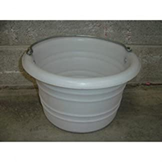 Battles Jumbo Feed/Water Bucket White Battles Jumbo Feed/Water Bucket White 4139UacECuL