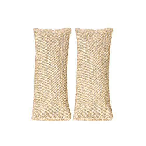 Bambus Holzkohle Luft Sauber Eingepackt 2Pcs Bambus Kohle Luft Erfrischer Geruch Sentferner SaugfäHig | Kleiderschrank Feuchtig Keitsabsorber | Aktivkohle Geruch SaugfäHig, 220G