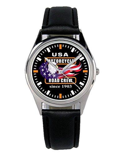Geschenk für Harley Davidson Motorrad Fans Fahrer Kiesenberg Uhr B-2320