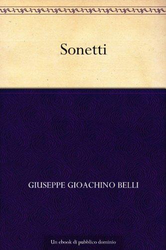 Sonetti (Italian Edition) book cover