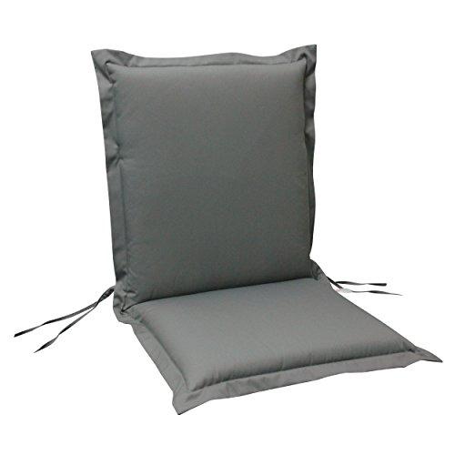 indoba® IND-70421-AUNL-6 - Serie Premium - Gartenstuhl Auflage - Niedriglehner, extra dick, Grau - 6 Stück