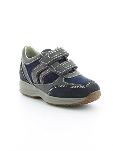 geox j happy a smo+lea+SUEDE Navy