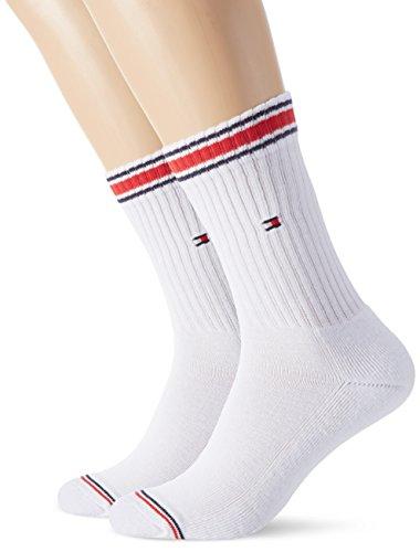 Tommy Hilfiger Herren TH MEN ICONIC SPORTS 2P Socken, Weiß (white 300), - Tommy Tennissocken Hilfiger