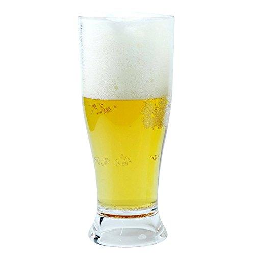 Viva Haushaltswaren – 2 x bruchfestes Bierglas ca. 350 ml, Longdrinkglas, Cocktailglas, Gläser Set aus hochwertigem Kunststoff (Polycarbonat), edle Gläser für Camping, Partys (wie echtes Glas) - 3