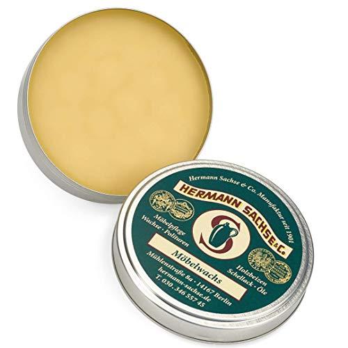 Möbelwachs farblos - 125ml ((7,96€ /100 ml) Antikwachs hergestellt aus Leinölfirnis Bienenwachs Carnaubawachs, Wachs für Holz - Möbel Holztisch