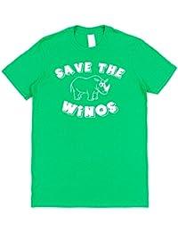 Click My Clobber Mens, T-Shirt, Save The Winos Wine Lover (Rhino)