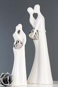 CASABLANCA figura The Kiss scultura bianco argento 2608126082Winter Prospetto 2013, taglia: 38cm