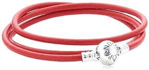 Pandora Damen-Armband 925 Sterling Silber dreifach Länge 57 cm 590714CRD-T2