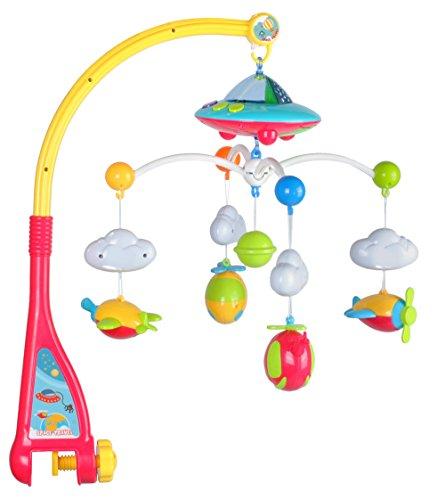 Iso Trade Baby Mobile Flugzeuge mit Fernbedienung Licht Musik Projektor Spieluhr Karussell 4478