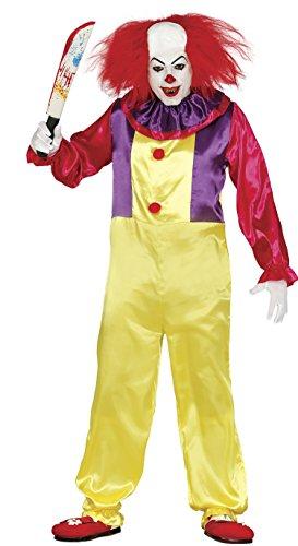 Guirca Costume da clown/pagliaccio assassino, da uomo, per adulti, taglia 48-50, rif: 84752.0