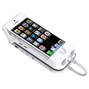 Aiptek MobileCinema i55 Mobile DLP Pico Projektor (VGA, Kontrast 1000:1, 50 ANSI Lumen, HDMI, Batterie Pack) für Apple iPhone 5 und iPhone 5S, weiß