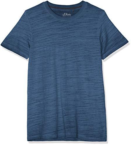 s.Oliver Herren 03.899.32.4584 T-Shirt, Blau (Midnight 5798), Small (Herstellergröße: S)