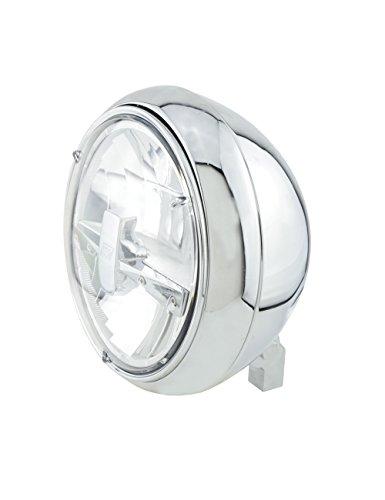 HIGHSIDER Yuma 2 Typ 3 Motorrad 7 Zoll LED-Scheinwerfer, E- geprüft (Chrome)