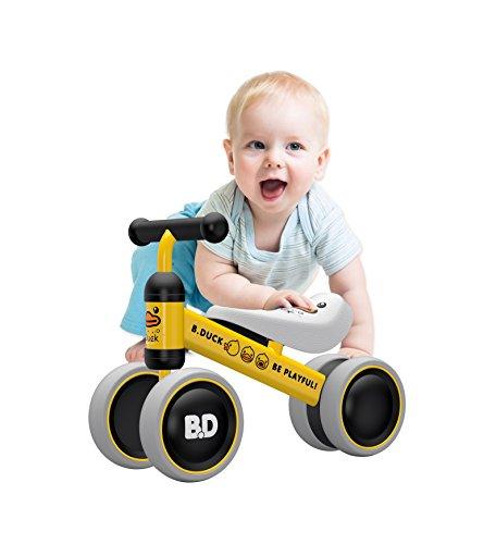 YGJT Bici Senza Pedali 1 Anno Triciclo Bambini Giochi per Ragazzi e Ragazze Interno per 1-2 Anni(10-24 Mesi) Balance Bike Camminatore per Bambini Scelta Regalo di Compleanno