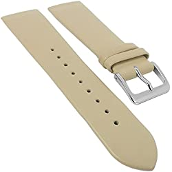 Minott watch strap | Spare Leather Strap for Screwing; SUITABLE FOR Skagen 29700, Bridge size 22 mm, Clasp Width: Silver