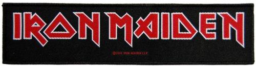 Iron Maiden - Logo (gewebter Superstrip Aufnäher) (Gewebt Shirt Fallen)