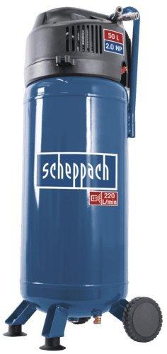 Preisvergleich Produktbild Scheppach 5906125901 Druckluftgerät / Kompressor HC51V, geeignet für eine Vielzahl an Druckluftwerkzeugen, ölfrei, Kesselgröße: 50 L, Arbeitsdruck maximal :10 bar, 1500 W, 230 V
