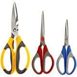 Petals Multipurpose And Household Scissor Set Of 3,Colour May Vary