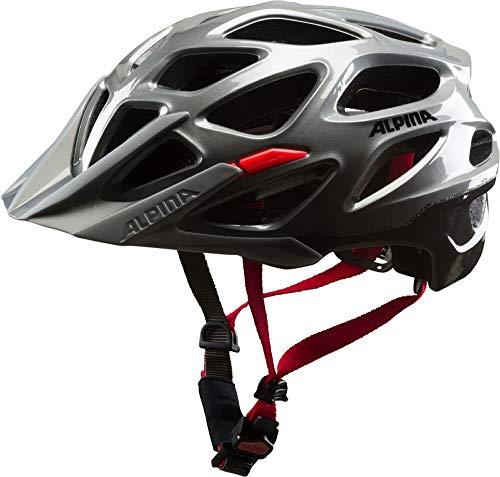 ALPINA Erwachsene Mythos 3.0 Fahrradhelm, darksilver-Black-red, 57-62 cm