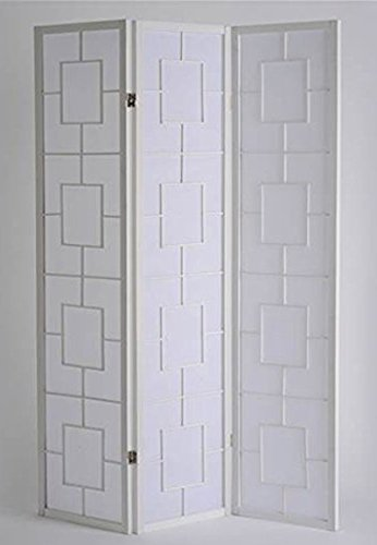 PEGANE Biombo Kwai - Blanco / 3 Paneles