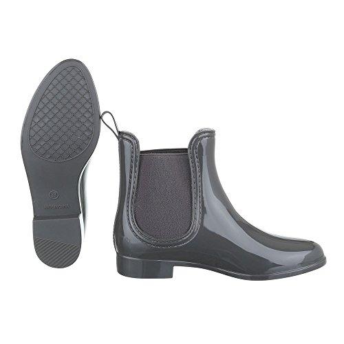 Ital-Design - Stivali di gomma Donna Grau