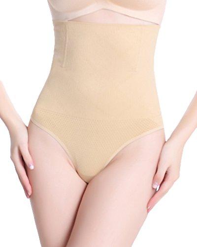 DODOING Damen Miederhose String Bauchweg Butt Lifter Shaper Miederslip mit Bauch-weg-Effekt Shaper figurenformend Shapewear (Leder Plus Outfits Size)