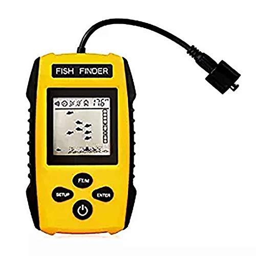 Nowear Tragbarer LCD-Display Fisch-Sucher Hand Echolot Tracker-Detektor mit Wired Sensor Transducer -