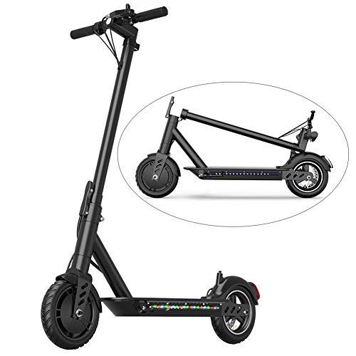 GREATY E-Scooter, 36V/250W Ultraleicht Faltbarer E-Scooter, Intelligente APP Power Scooter mit Licht, 25km / h 8.5 '' Bereifung, Elektroroller für Erwachsene, Schwarz,40~50km(10.4AH) - Elektro-roller-rampen