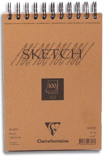Clairefontaine Skizzenblock Sketch 100 Blatt, DIN A5
