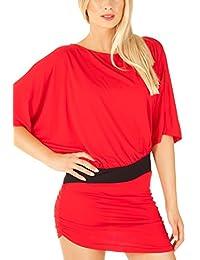 Bestyledberlin Damen Kleider, kurze Jerseykleider, Sommerkleider, Partykleider t111pn