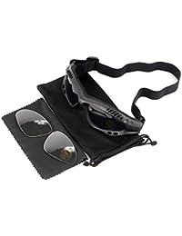 guoxuEE Lunettes de Soleil Militaires Desert Motor Tactical Goggles Desert  Storm Tactiques-Noir 217fee9cc1ec