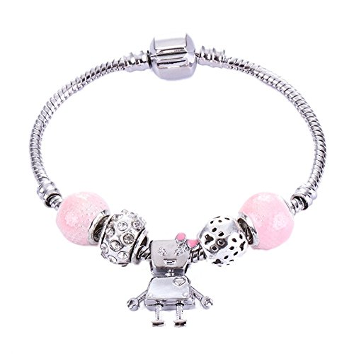 JZHJJ einfaches und stilvolles klassisches Armband Roboter Perlen Armband 1M beinhaltet: Armband,Armband Frauen,Armband männer,Armband Herren Gold,Armband Herz,Silber Armband