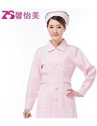 Xuanku Enfermera Una Gruesa De Color Rosa Y Blanco Azul Invierno Invierno Farmacia De Servicio Médico